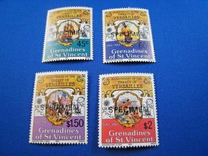 GRENADINES OF ST. VINCENT  -  SCOTT #271-274     SPECIMEN   MNH   (gg)