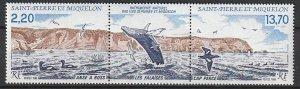 1988 St. Pierre and Miquelon - Sc 507a - MNH VF - 1 pr - Ross Cove/Cap Perce