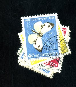 SWITZERLAND #B247-51 257-61 USED FVF Cat $22
