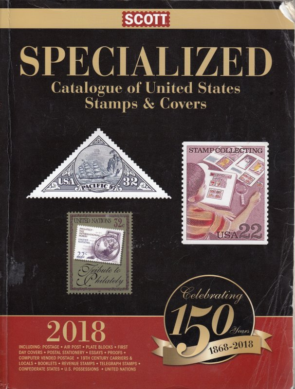 2018 Scott Specialized Catalogue of United States Stamps & Covers