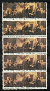 1691-94 Declaration Of Independence Wholesale Lot Of 5 Strips Mint/nh SHIPS FREE