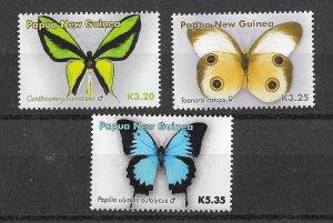 Papua New Guinea MNH Set of Butterflies