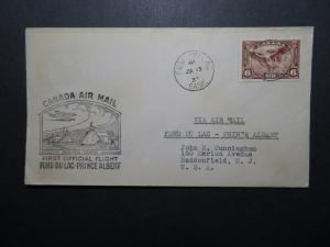 Canada 1937 Fond Du Lac to Prince Albert First Flight Cover - Z11192