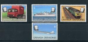 Grenadines Grenada 1979 MNH Rowland Hill 100th Ann Death 4v Set Concorde Trains