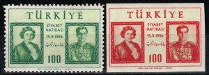 Turkey #1208-9  MNH CV $7.25 (X7728)