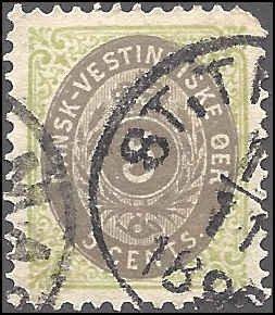 Danish West Indies 19 Used... SCV $42.50... VF/XF