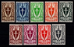Cameroun 1942 Free French Issue Partial Set [Mint]