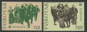 STAMP STATION PERTH Faroe Is. #63-64 Pictorial Definitive Issue MNH 1981 CV$1.25