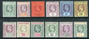 STRAITS SETTLEMENTS-1902-3  A lightly mounted mint set to $5 Sg 110-121