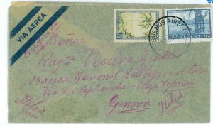 aa3091 - ARGENTINA - POSTAL HISTORY -  AIRMAIL COVER to ITALY   1956