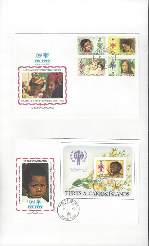 Turks & Caicos Islands FDC International Year of the Child 1979 Official Cachet