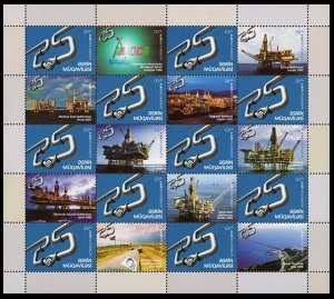 2019 Azerbaijan 1456-1466KL 25 years of the Contract of the Century