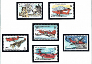 Brit Ant Terr 218-23 MNH 1994 Old and New Transportation