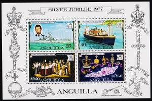 Anguilla. 1977 Miniature Sheet. Silver Jubilee. S.G.MS273 Unmounted Mint