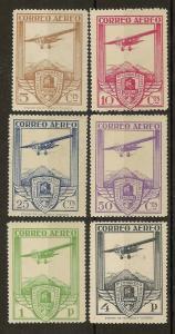 Spain 1930 Railway Congress Airs SG547-552 MNH Cat£160