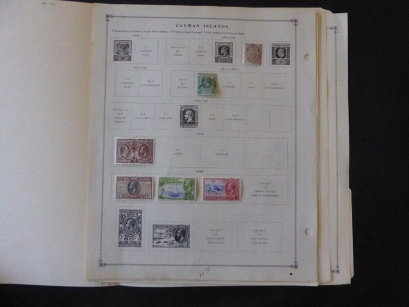 Cayman Islands 1886-1968 Mint Stamp Collection on Scott Intl Album Pages