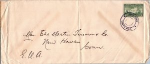 San Jose Costa Rica > Marlin Firearms New Haven CT c1940s stamp cancel
