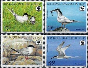 1989 Benin WWF, Birds, Swallow, Sterna Dougallii, compl. set VF/MNH! CAT 12$