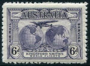 HERRICKSTAMP AUSTRALIA Sc.# C2 1931 Airflight Kingsford-Smith Mint NH
