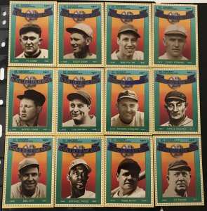 St. Vincent and the Grenadines1992 #1693-1704 Baseball card stamps, MNH, CV $40