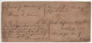 US Cover Scott #28 Pair & #9 Pair Rare Combo, Court Document 1857 Perry Georgia