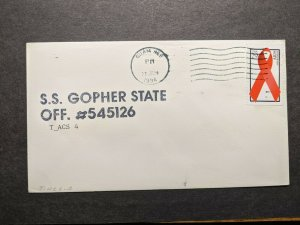Ship SS GOPHER STATE T-ACS 4 Naval Cover 1994 GUAM, MARIANAS ISLANDS