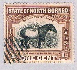 North Borneo 136 Used Tapir 1909 (BP35925)