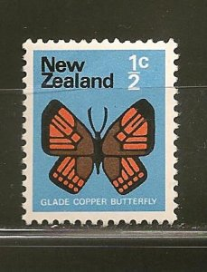 New Zealand 438 Glade Copper Butterfly Mint Hinged