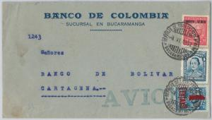 COLOMBIA -  POSTAL HISTORY -  AIRMAIL COVER from BUCAMARANGA to CARTAGENA 193230