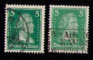 Germany, 5pf Scott #353-353b Used Set Both (Color Shades) F-VF