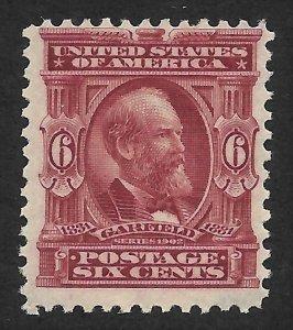 Doyle's_Stamps: Scott #305**  F-VF  6c Garfield 1902-03 Series Issue