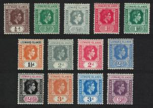 Leeward Is. George VI Definitives 13v MH Unchecked for Varieties SG#95=109