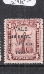 Nicaragua SC 314 Surcharge Variety MOG (3dnh)