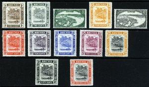 BRUNEI 1947-51 The Wmk Multiple Script CA Set to $1 SG 79 to SG 90 MINT
