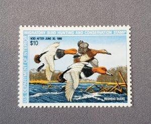 RW54, Red Head Ducks, Mint OGNH CV $35