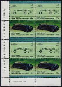 St Vincent Grenadines Union Is 149 BL Block Specimen o/p MNH Car, Lagonda