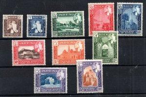 Aden Seiyun 1954 fine mint set SG29-38 WS18786