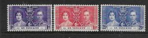ST. VINCENT, 138-140, USED, ROYAL ISSUE
