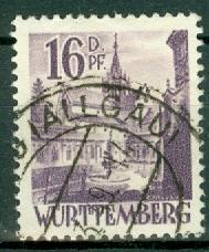 Germany - French Occupation - Wurttemberg - Scott 8N20