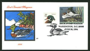 MALACK RW61 $15 duck stamp,  Fresh Colorful Cover,  Nice! b2131