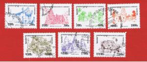 Cambodia #2090-2096 VF used  Temples  full set   Free S/H