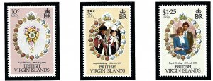 British Virgin Is 406-08 MNH 1981 Prince Charles Wedding    (ap1944)