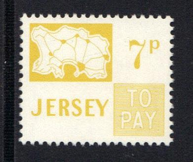 Jersey  1974  MNH  postage due  7p  #