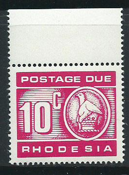 Rhodesia SG D22  MUH   Postage Due Margin Copy