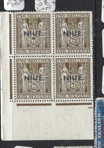 NIUE (PP0310B) ON NZ ARMS 2/6  SG 83W  BL OF 4     MNH