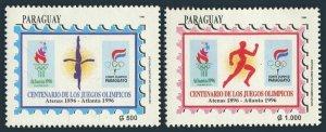 Paraguay 2535-2536,MNH.Michel 4716-4717. Olympics Atlanta-1996. Diving, Running.