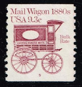 US STAMP 1903  9.3c Mail Wagon Plate #5