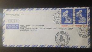 U) 1990, URUGUAY, CIENTIFIC ANTARTIC BASE, AIR MAIL, COVER