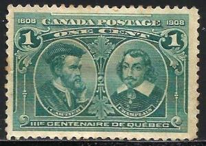 Canada 1908 Scott# 96 MNG or used (writing on back side)