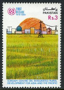 Pakistan 727,MNH.Center on Integrated Rural Development (CIRDAP),10th ann. 1989
